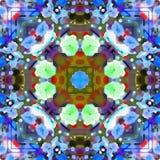 Branches de feuillage de fractale d'aquarelle Images stock