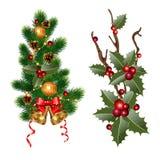 Branches de Noël Image stock