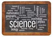Branches de nuage de mot de la science Images libres de droits