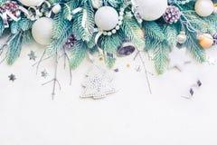 Branches de pin d'arbre de Noël Photographie stock libre de droits