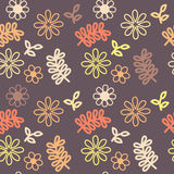 Branches and Flowers Background. Branches and flowers pattern, seamless texture Stock Photo