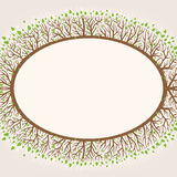 Branches frame. Beautiful frame with branches and leaves Stock Photos