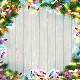 Branches and a garland. EPS 10 Stock Photos