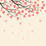 Branches with hearts. Branches of tree with hearts background for valentines day. Vector illustration Royalty Free Illustration