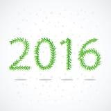 Branches impeccables sous forme de numéros 2016 Images libres de droits
