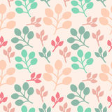 Branches and Leaves Background. Seamless texture Stock Images