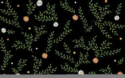 Free Branches Leaves Twigs Grass Herbs Seamless Pattern. Embroidery Vector Flower Decoration Textile Print Illustration On Stock Photography - 91803962