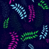 Seamless pattern with colorful branches vector illustration