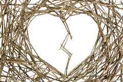 Branches in Love Shape cracked Royalty Free Stock Images