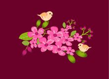 Branches of pink flowers Royalty Free Stock Photo