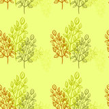 Branches retro seamless pattern Stock Photos