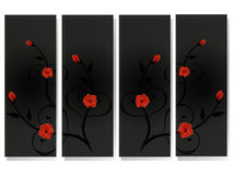 Branches of roses, modern design. Stock Photography