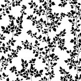 Branches seamless pattern. Isolated on white background vector illustration
