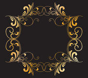 Branches-swirl-frame-b Royalty Free Stock Photo