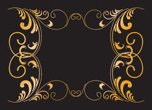 Branches-swirl-frames-a. Ornate frame from swirl branches. Vector (EPS 8) included and you can change colors and shapes for your design Royalty Free Stock Image