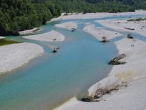Branches of the Tagliamento Royalty Free Stock Photography