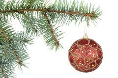 branches treen för julpälstoys Arkivfoton