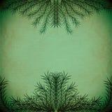 Branches vertes formant un cadre sur une vieille texture de papier illustration stock