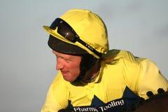 Branchez le jockey, chemins de Towcester Images stock