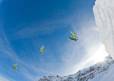 branchez le skieur Image libre de droits