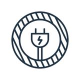 Branchez le vecteur d'icône d'isolement sur le fond blanc, signe de prise illustration libre de droits