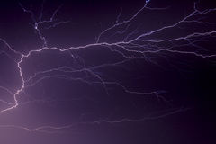 Branching Lightning Bolt Crosses the Sky Royalty Free Stock Images