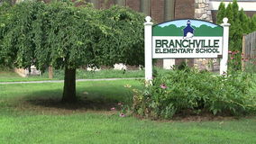 Branchville Elementary School (1 of 2). A view or scene of Education stock video