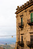 Branciforti building, Leonforte - Sicily Royalty Free Stock Photography