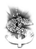 Branco 2d do dólar Fotografia de Stock Royalty Free