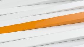 Branco abstrato e a laranja almofadam o fundo 3D Foto de Stock