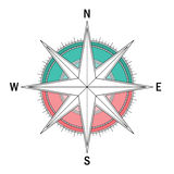 Branco ajustado de Compas Imagens de Stock Royalty Free