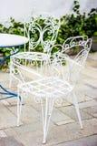 Branco ajustado do jardim Fotografia de Stock Royalty Free