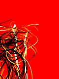 Branco amarelo preto vermelho arte abstrato colorida Fundo Imagem de Stock Royalty Free