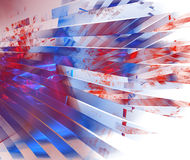 Branco & azul vermelhos ilustração royalty free