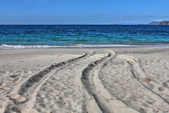 Branco-areia Playa Conchal, Costa Rica Fotografia de Stock