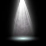 Branco claro do projetor Molde para o efeito da luz no fundo preto Ilustração do vetor Fotos de Stock
