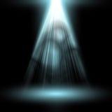 Branco claro do projetor Molde para o efeito da luz no fundo preto Ilustração do vetor Fotografia de Stock Royalty Free