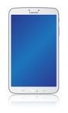 Branco 8,0 da aba 3 da galáxia de Samsung ilustração do vetor