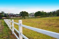 Branco da cerca Foto de Stock Royalty Free