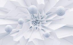 Branco da ilustração do sumário com cinzento ilustração stock