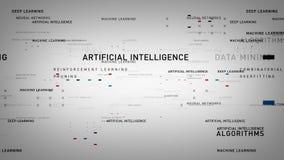 Branco da inteligência artificial das palavras-chaves ilustração do vetor