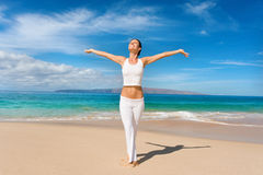 Branco da ioga foto de stock