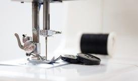 Branco da máquina de costura Imagem de Stock