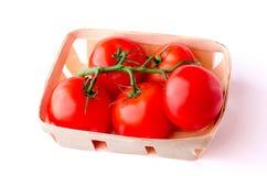 Branco da salada da vitamina da cesta do tomate Imagem de Stock