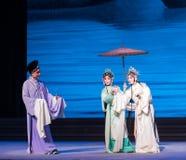""" branco de ajuda de Opera""""Madame Snake†da mão-Kunqu do encontro-Um romântico Foto de Stock Royalty Free"""