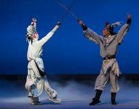 """ branco de Opera""""Madame Snake†da espada-Kunqu da cubeta Imagens de Stock"""