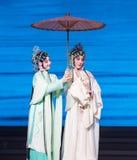 """ branco de Opera""""Madame Snake†das irmãs-Kunqu da serpente Fotos de Stock Royalty Free"""