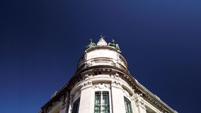 Branco de Portugal building in Braga. BRAGA, PORTUGAL - CIRCA FEBRUARY 2019: Branco de Portugal building at Medieval Republic Square or Praca da Republica known stock video