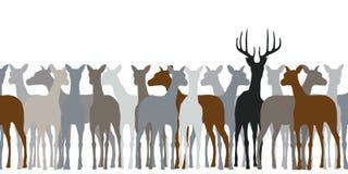 Branco di cervi royalty illustrazione gratis