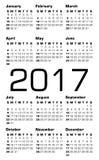 Branco do calendário 2017 do vetor Foto de Stock Royalty Free